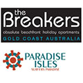 The Breakers Gold Coast Australia & Paradise Isles Logos
